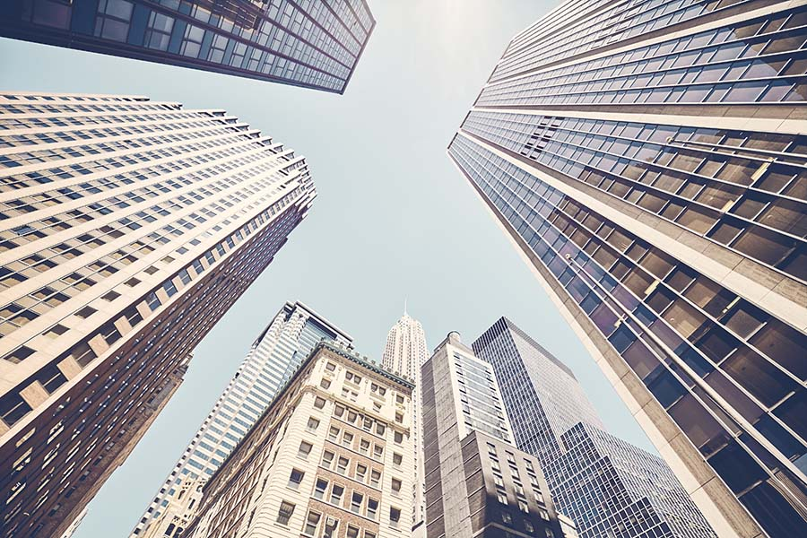 Business Insurance - Closeup View of Tall Skyscrapers in New York City