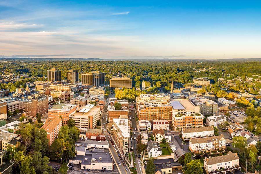 Kinnelon NJ - Aerial View of Downtown Kinnelon New Jersey